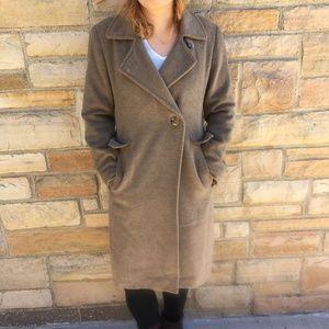 Calvin Klein Womens Coat SZ 2 Beige Long Dress